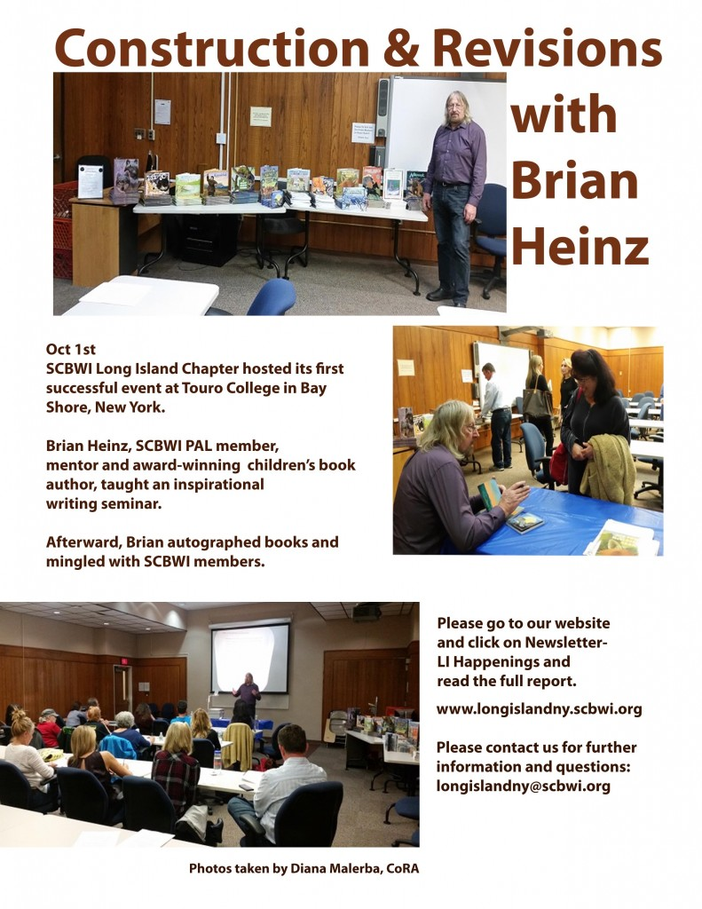 page one scbwi brian heinz event 2017